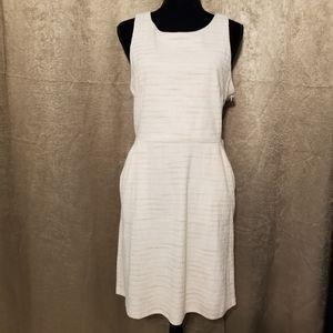 NWT Loft Size 10 Striped Criss Cross Back Dress